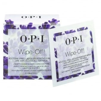 Acetone Free Nail Polish Remover Wipes - Wipe Off (10 Wipes)
