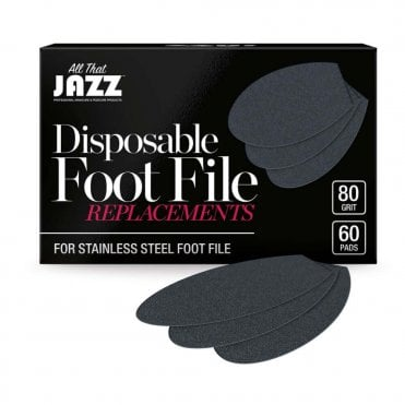 Disposable Foot File Replacements - 80 Grit (60 Pieces)
