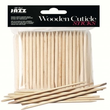 Wooden Cuticle Sticks - 100 Pieces