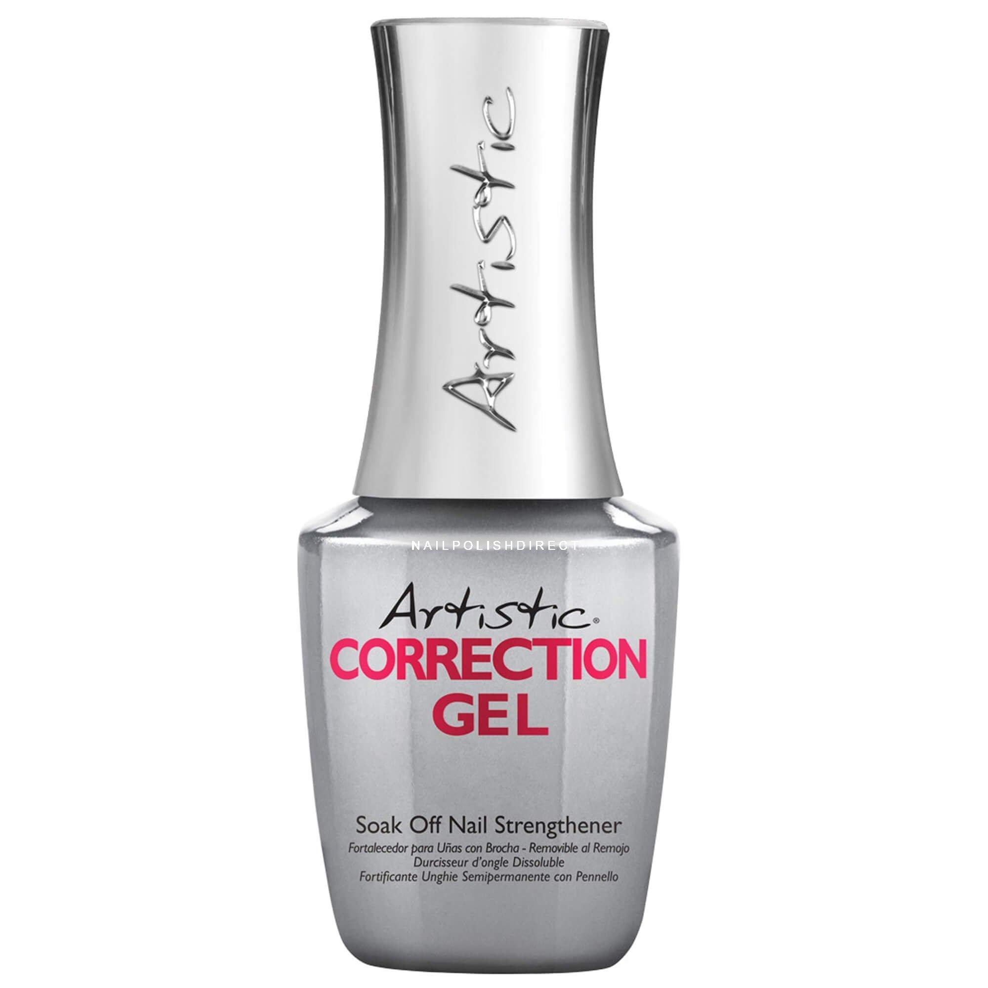 Brush On Nail Gel: Artistic Soak Off Brush-On Nail Strengthening Correction