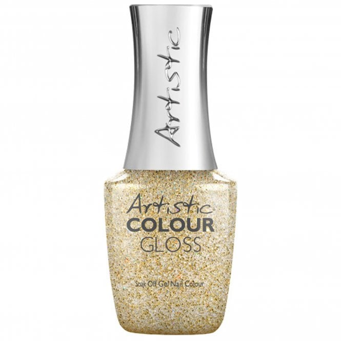Artistic Colour Gloss Soak Off Gel Nail Polish - Gold Digger 15mL (03125)