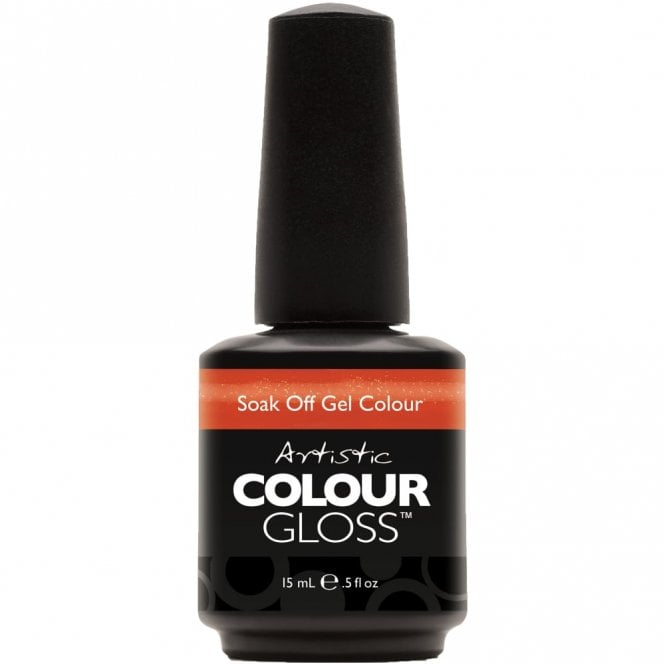 Artistic Colour Gloss Soak Off Gel Nail Polish - Haute Cout Orange 15mL (03087)