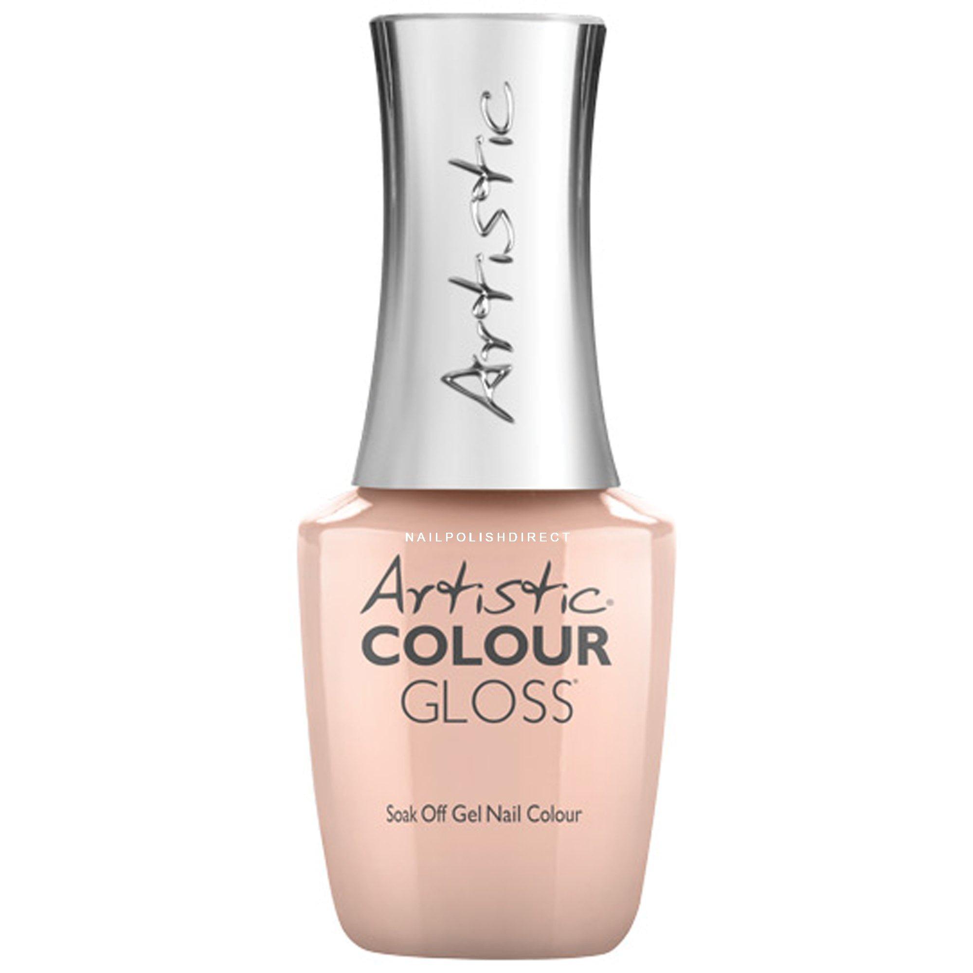 Artistic Colour Gloss Soak Off Gel Nail Polish - Peach Whip (03046)