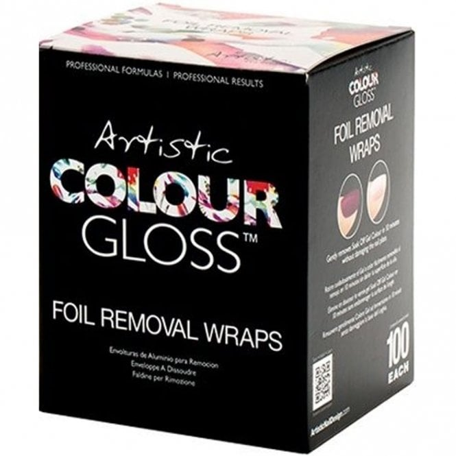 Artistic Colour Gloss Soak Off Gel Removal Foil Wraps - 100 Piece Pack (03351)