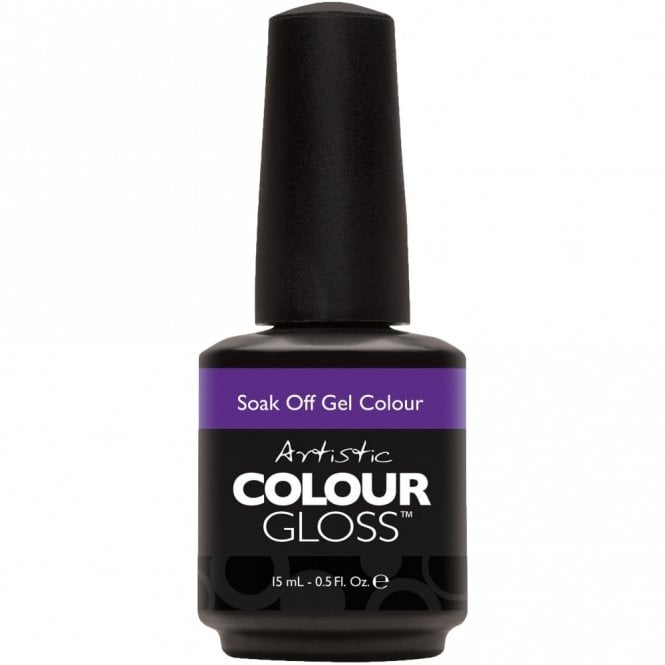 Artistic Colour Gloss Soak Off Retro Redux Gel Nail Polish Collection 2016 - Pin Up Purple 15ml (2100021)