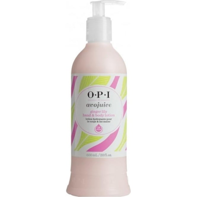 OPI Avojuice Hydrating Skin Quenchers - Ginger Lily Hand & Body Lotion 600ml
