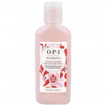 Avojuice Hydrating Skin Quenchers - Peony & Poppy Juicie Hand & Body Lotion 30ml