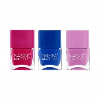 Nails inc Berry Gel Effect Nail Polish Collection Set - 3 x 14ml