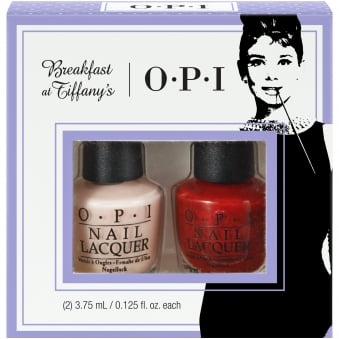 Breakfast At Tiffany's Nail Polish Collection 2016 - Bubble Bath Mini-2 Pack Duo 2 - 2 x 3.75ml (HRH24)