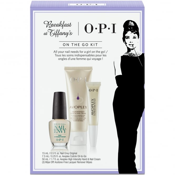 OPI Breakfast At Tiffany's Nail Polish Collection 2016 - On The Go Kit - 4 Piece (HRH31)