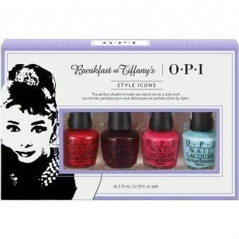 Breakfast At Tiffany's Nail Polish Collection 2016 - Style Icons Mini 4-Pack - 4 x 3.75ml (HRH25)