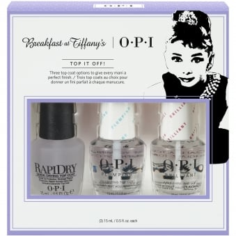 Breakfast At Tiffany's Nail Polish Collection 2016 - Top It Off Top Coat Trio Pack - 3 x 15ml (HRH30)