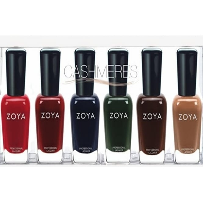Zoya Cashmeres Sampler Set Nail Polish Collection - (6 X 14ml)
