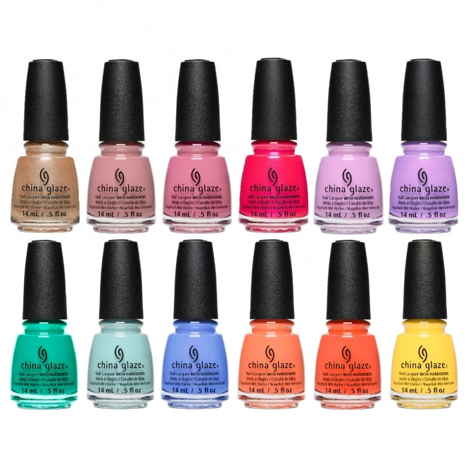 China Glaze Chic Physique 2018 Nail Polish Collection - Complete 12 Piece Set