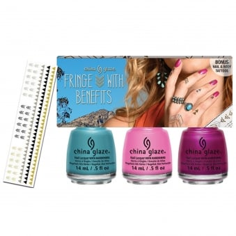 Desert Escape Nail Polish Collection 2015 - Fringe With Benefits Set With Flash Tattoos (x3 Piece) 14mL