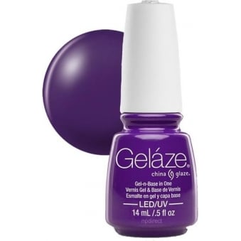 China Glaze Electric Nights LIMITED EDITION Gel Nail Lacquer - Plur-Ple 14mL