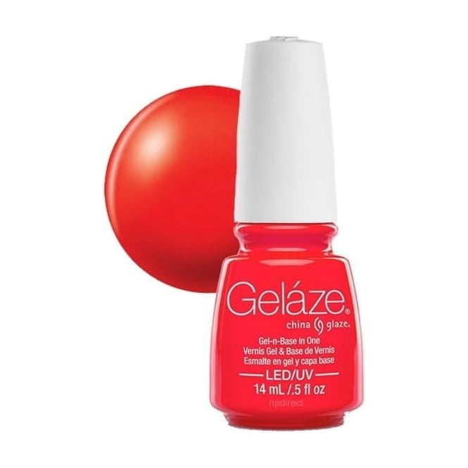 China Glaze Gel Polish China Glaze Electric Nights LIMITED EDITION Gel Nail Lacquer - Red-Y To Rave 14mL