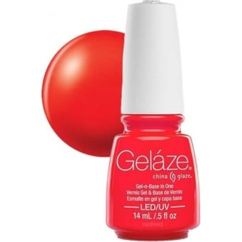 China Glaze Electric Nights LIMITED EDITION Gel Nail Lacquer - Red-Y To Rave 14mL