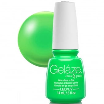 China Glaze Gel Nail Polish - In The Lime Light (Shimmer)
