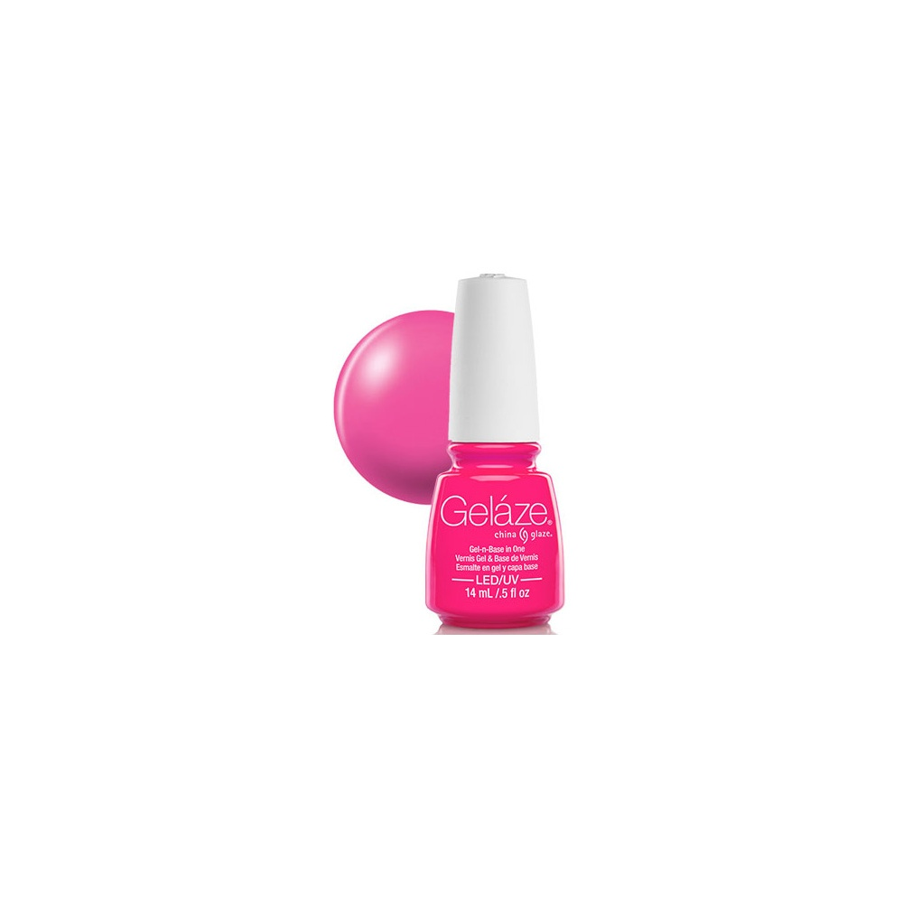 Pink Nail Polish Video: Gelaze China Glaze Gel Polish - Pink Voltage 14ml