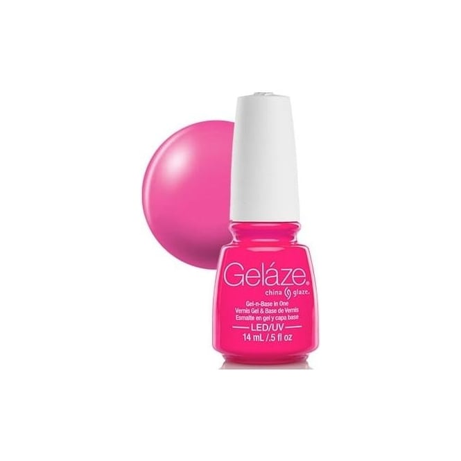 China Glaze Red Nail Polish: Gelaze China Glaze Gel Polish - Pink Voltage 14ml