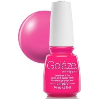 China Glaze Gel Nail Polish - Pink Voltage (Shimmer)