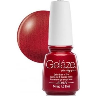 China Glaze Gel Nail Polish - Red Pearl (Shimmer)