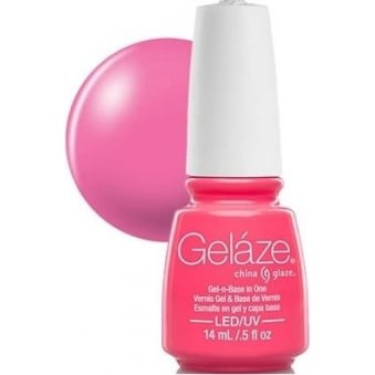 China Glaze Gel Nail Polish - Shocking Pink (Creme)