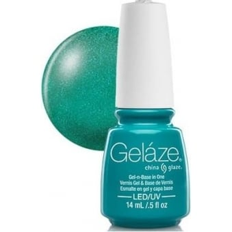 China Glaze Gel Nail Polish - Turned Up Turquoise (Glitter)