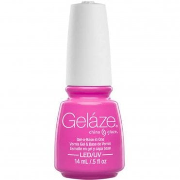 China Glaze Electric Nights LIMITED EDITION Gel Nail Lacquer - Glow With The Flow 14mL