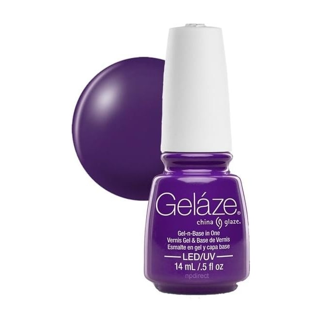 China Glaze Gel Polish China Glaze Electric Nights LIMITED EDITION Gel Nail Lacquer - Plur-Ple 14mL (82644)