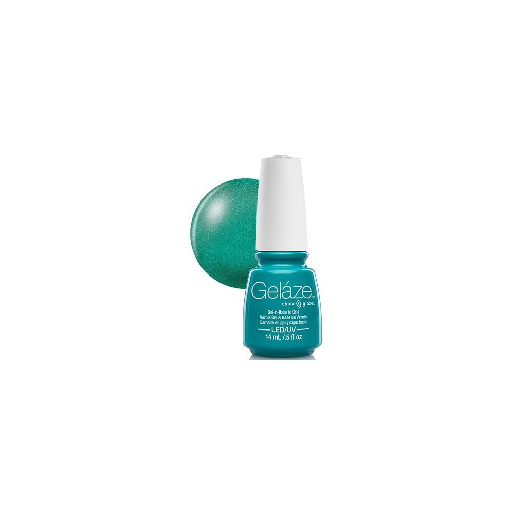 Green Glitter Nail Polish Uk: China Glaze Gel Polish Turned Up Turqouise