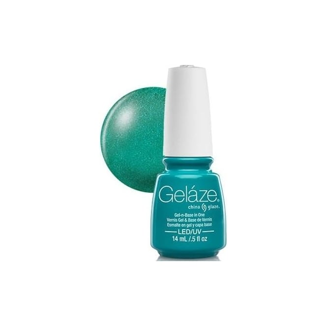 China Glaze Gel Polish China Glaze Gel Nail Polish - Turned Up Turquoise (Glitter)