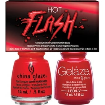 China Glaze Lite Brites 2016 Gel & Nail Lacquer Collection Set - Hot Flash Duo (2 X 14ML)