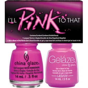 China Glaze Lite Brites 2016 Gel & Nail Lacquer Collection Set - I'll Pink To That Duo (2 X 14ML)