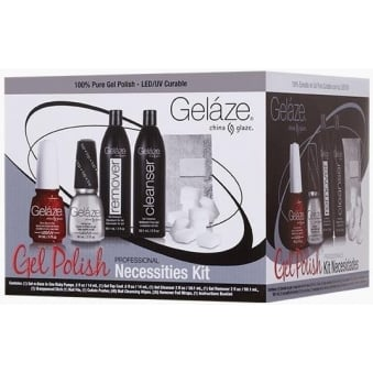 China Glaze Professional Gel Polish & Remover Set - Necessities Kit (6 Piece)