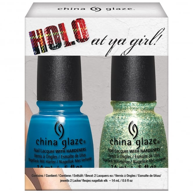 China Glaze Rebel Nail Polish Collection Fall 2016- Holo At Ya Girl Duo (2 X 14ML) (83623)