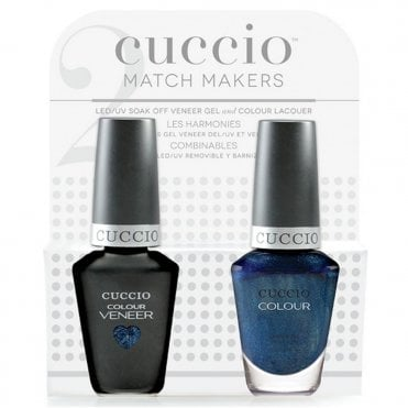 Cinema Noir 2016 Collection Veneer UV/LED Polish Match Maker Sets - Lauren BluCall x2 13ml