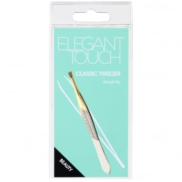 Classic Tweezer - Gold Plated Stainless Steel Slant Tip
