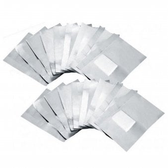 Foil Cotton Pad Remover Wraps (10 Pack)