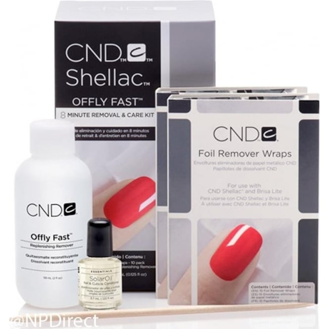 CND Offly Fast - 8 Minute Removal Care Kit & Foil Remover Wraps