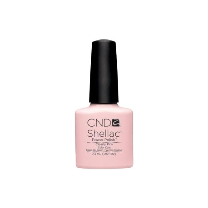 CND Shellac Power Nail Polish - Clearly Pink (7.3ml)