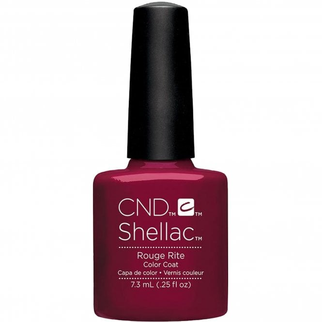 CND Shellac Power Nail Polish - Contradictions Collection - Rouge Rite (7.3ml)