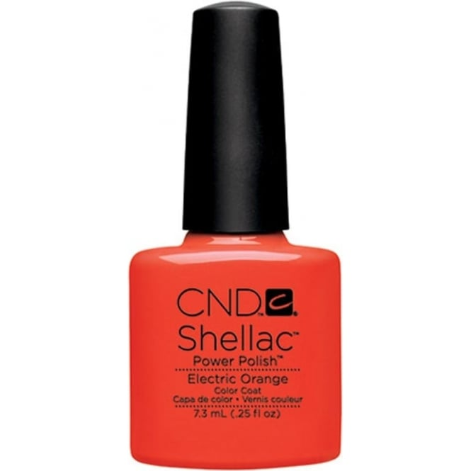 CND Shellac Power Nail Polish - Electric Orange (7.3ml)