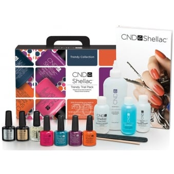 Trendy Trial Pack Gel Nail Polish Kit - Trendy Collection (14 Set Piece)
