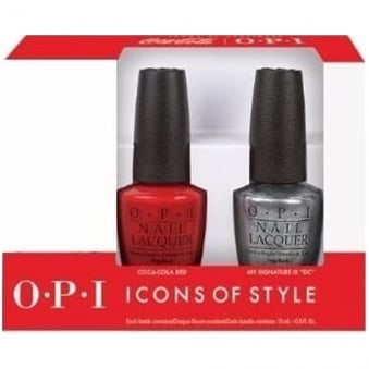 Coca Cola 2014 Nail Polish Collection Duo Set - Turn On the Haute Light & Coca-Cola Red (2 X 15ML)