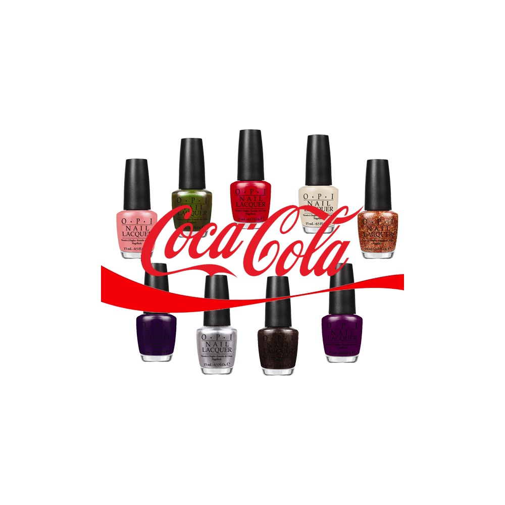 OPI Coca Cola 2014 Nail Polish Collection - Mini 10 Piece Set 10 x 3    Opi Coca Cola