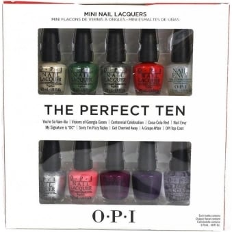 Coca Cola Perfect Ten MINI Nail Polish Set (10x 3.75mL)
