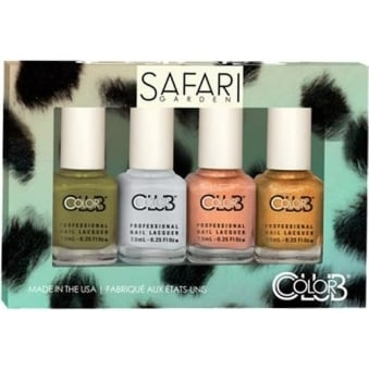 Safari Garden Nail Polish Collection - 4 Piece Mini Gift Set (4x 7mL)