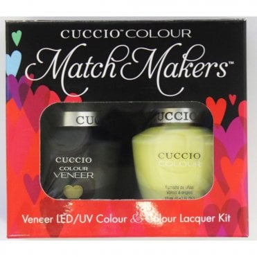 Colour Cocktail Collection - Veneer UV/LED Polish Match Maker Sets - Mojito 2 x 13ml